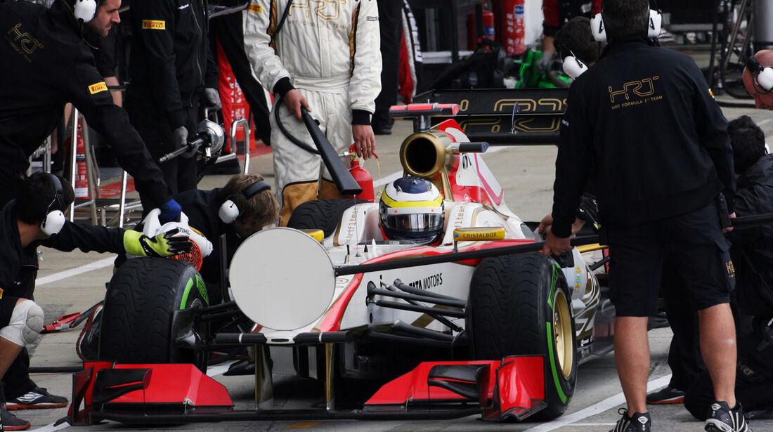 Pedro de la Rosa - HRT - Formel 1 - GP England - Silverstone - 7. Juli 2012