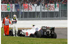 Perez GP England F1 Crashs 2012