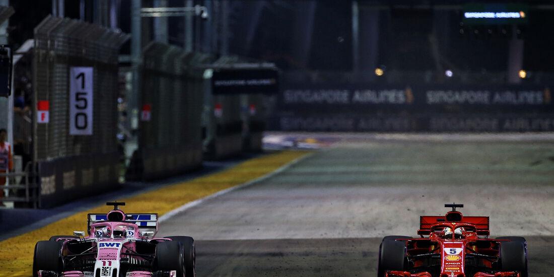 Perez & Vettel - GP Singapur 2018
