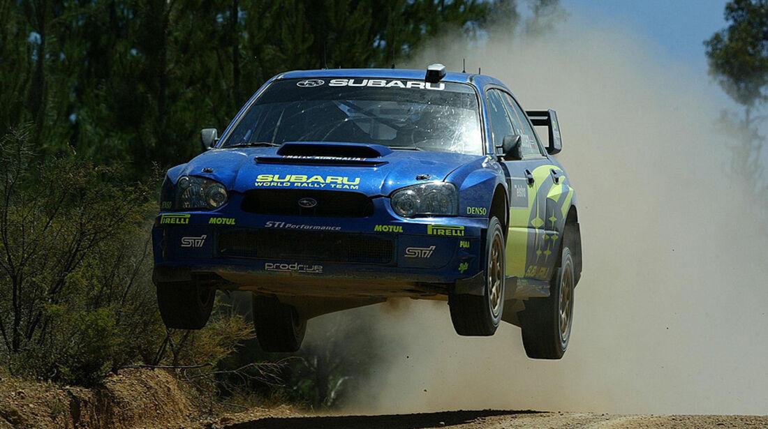 Petter Solberg, Rallye Australien 2004, Rallye-Sprünge