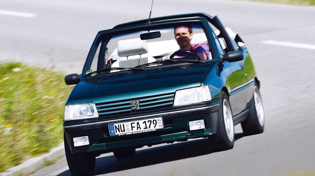 Peugeot 205 Cabrio, Frontansicht