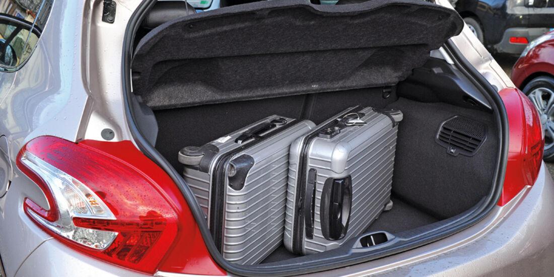 Peugeot 208, Kofferraum