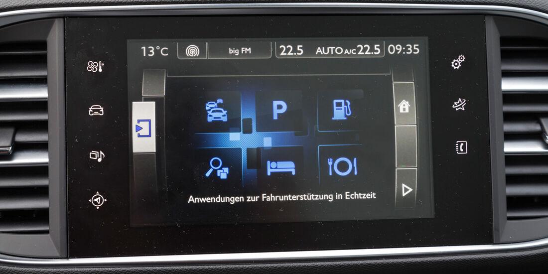 Peugeot 308 125 THP, Display