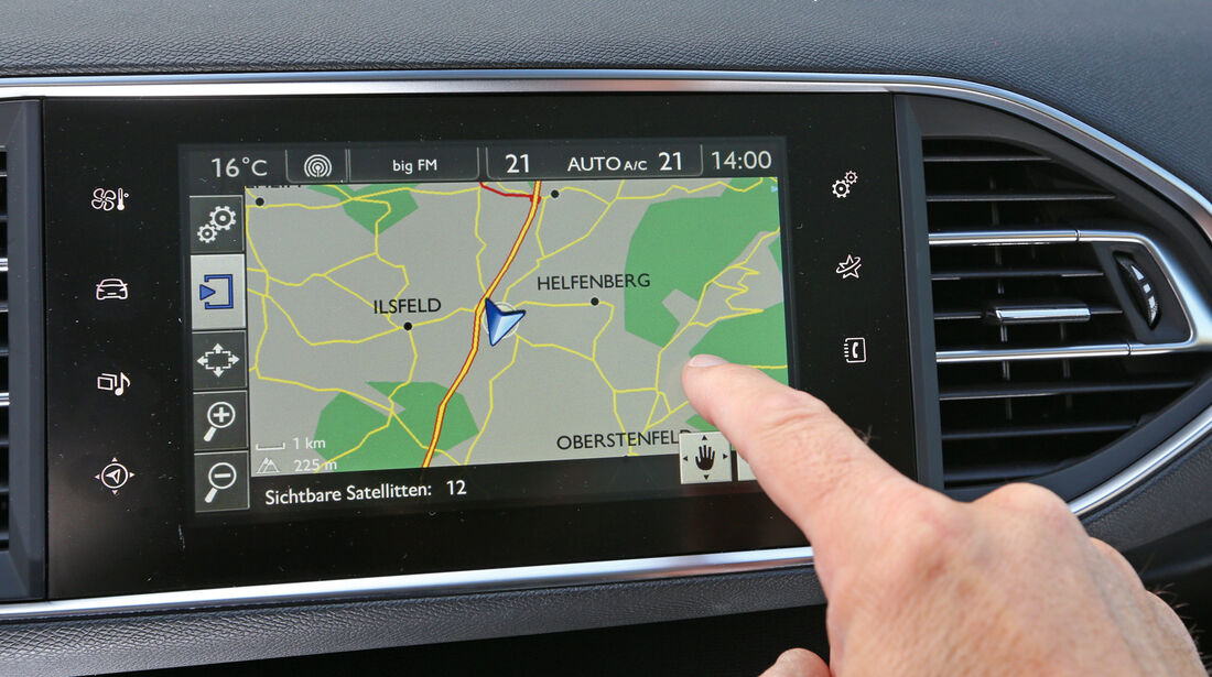 Peugeot 308 e-HDi 115, Navi, Touchscreen