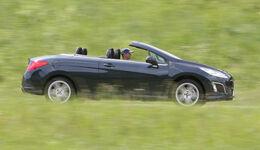 Peugot 308 CC 155 THP, Seitenansicht, Cabrio, Verdeck offen