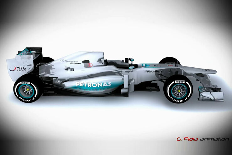 Piola-Technik Updates Mercedes AMG W04 2013