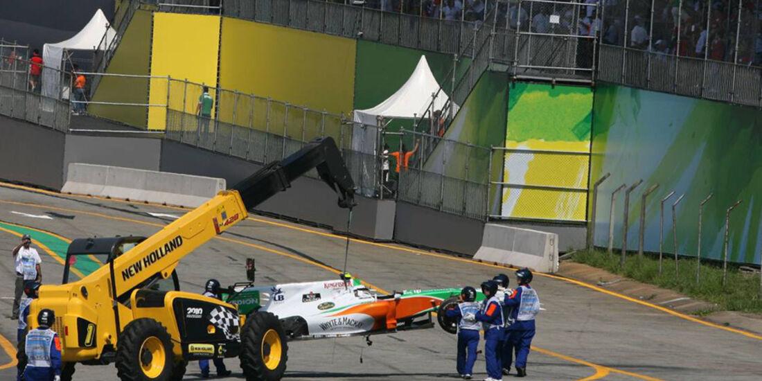 Pit-Boards GP Brasilien 2010