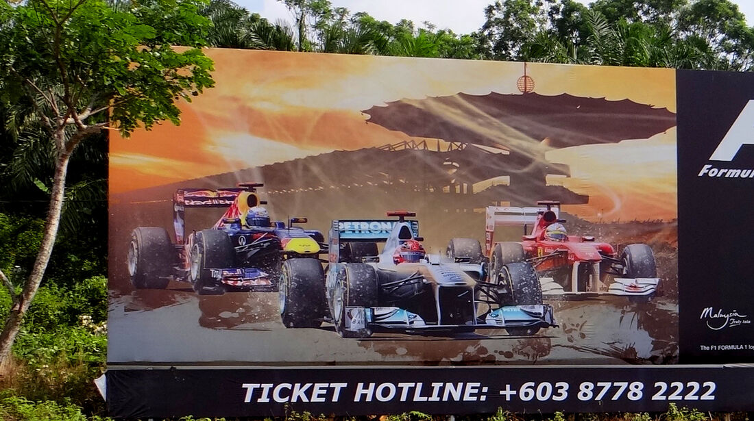 Plakat - GP Malaysia - 22. März 2012