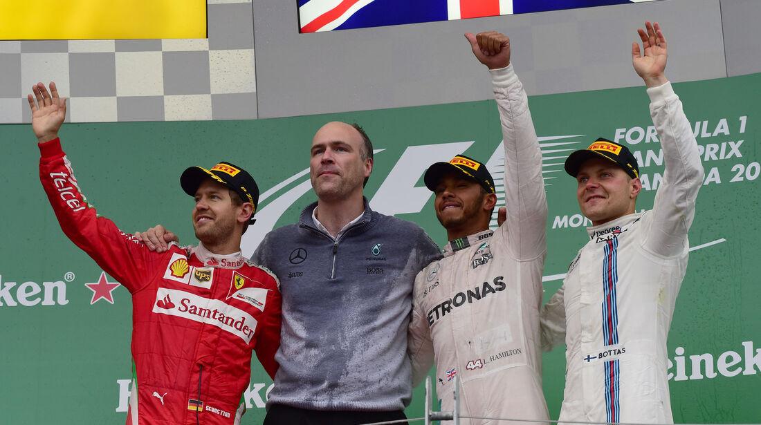 Podest - Hamilton - Vettel - Bottas - Kanada 2016 - Montreal