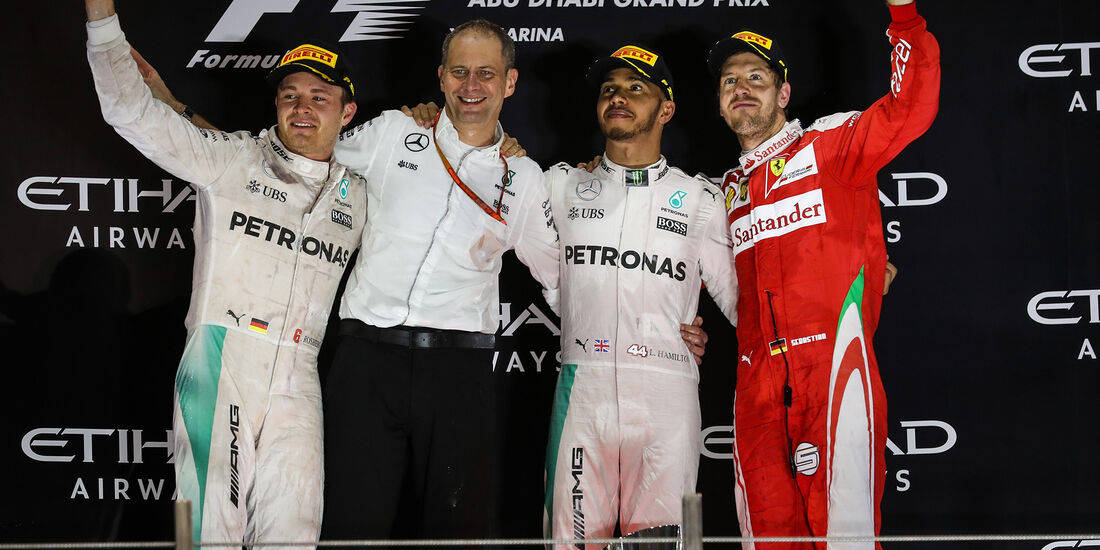 Podium - Formel 1 - GP Abu Dhabi 2016