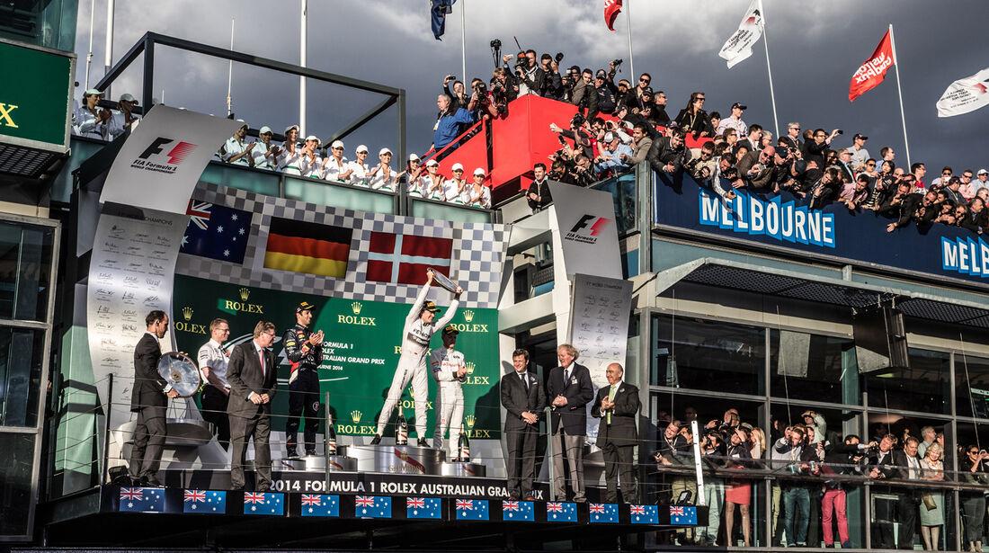 Podium - Formel 1 - GP Australien 2014 - Danis Bilderkiste