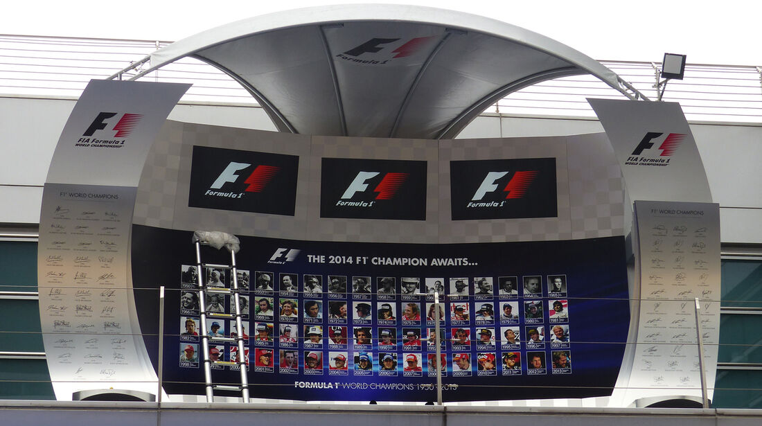 Podium - Formel 1 - GP China - Shanghai - 17. April 2014