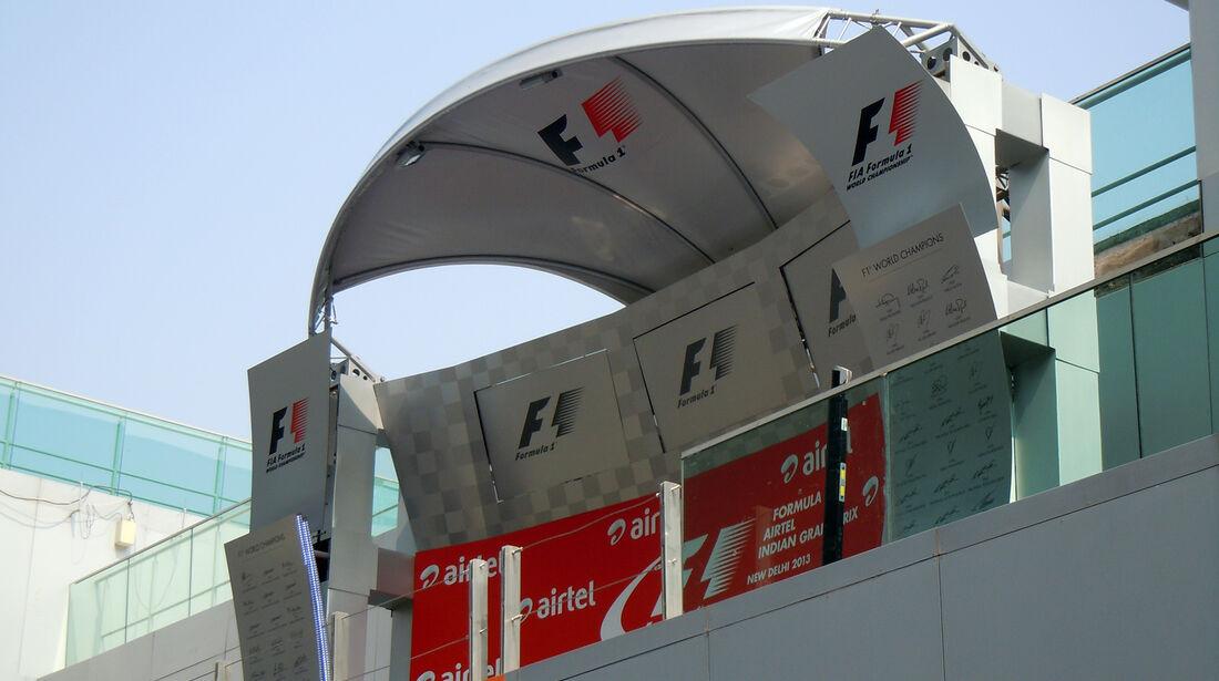 Podium - Formel 1 - GP Indien - Delhi - 24. Oktober 2013