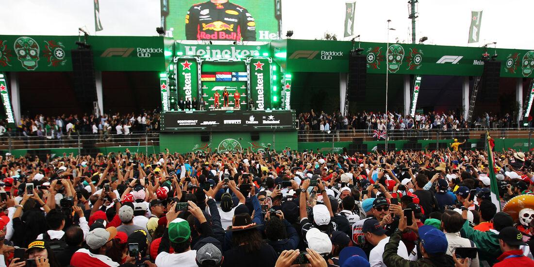 Podium - Formel 1 - GP Mexiko 2018