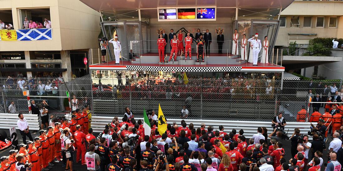 Podium - Formel 1 - GP Monaco 2017