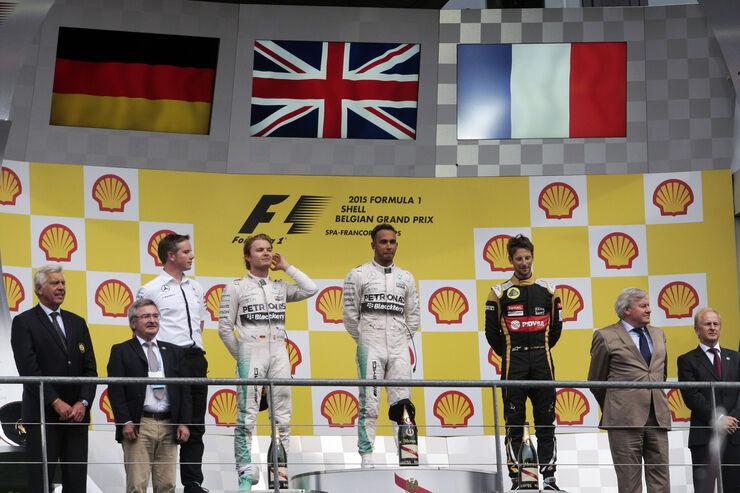 Podium - GP Belgien 2015