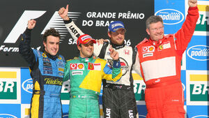 Podium - GP Brasilien 2006
