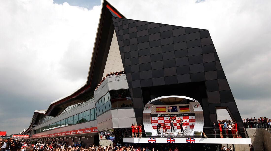 Podium GP England Silverstone 2012
