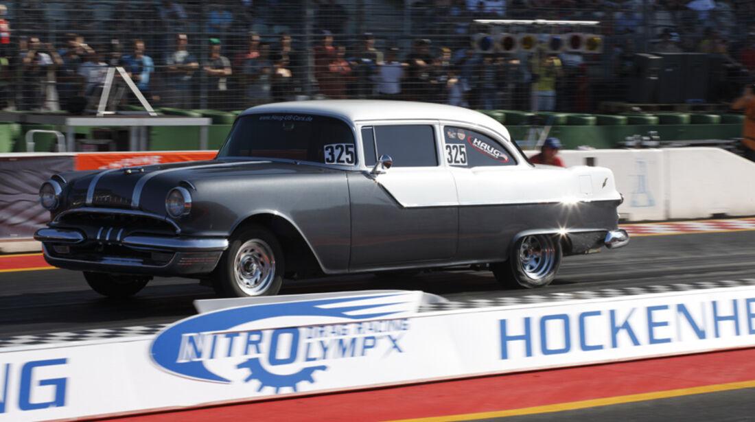 Pontiac Chieftain-Dragster - Burn-Out bei den NitrolympX Hockenheim 2009
