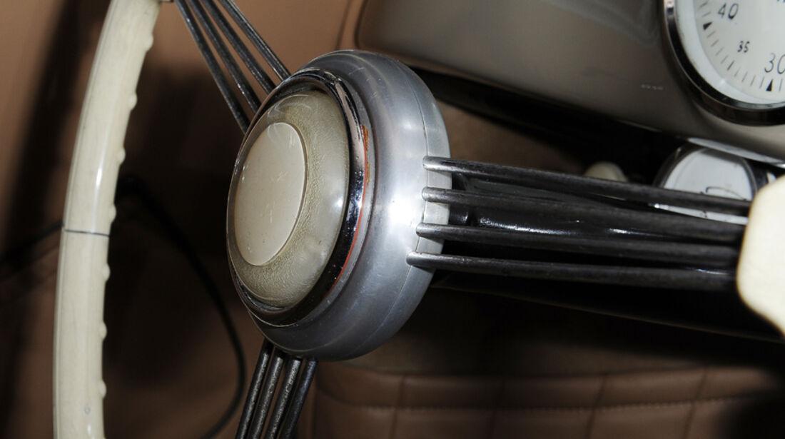 Porsche 356/2-004, Lenkrad, Detail