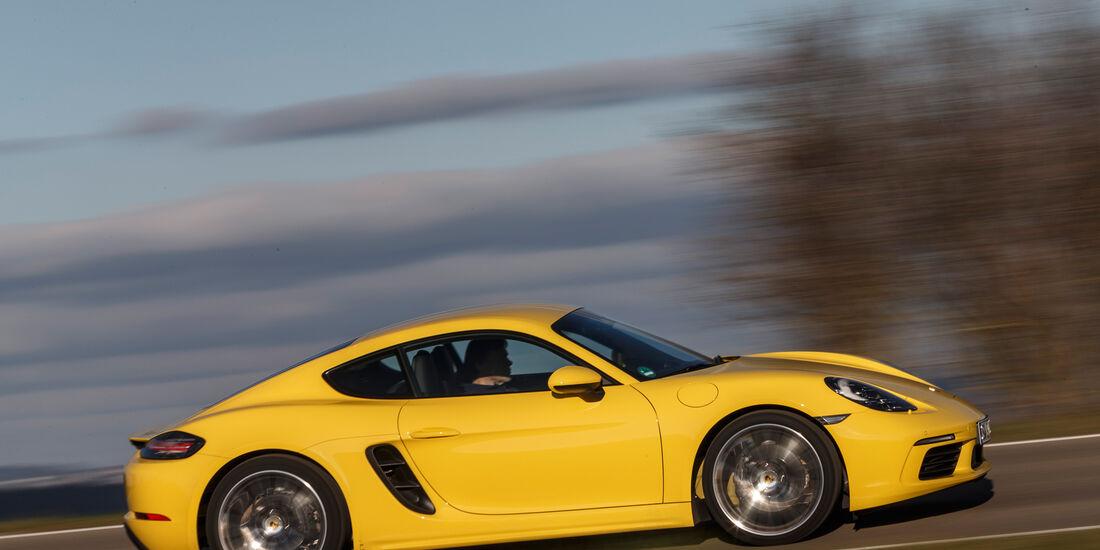 Porsche 718 Cayman, Seitenansicht
