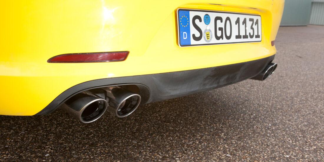 Porsche 911 Carrera Cabriolet, Auspuff, Endrohre