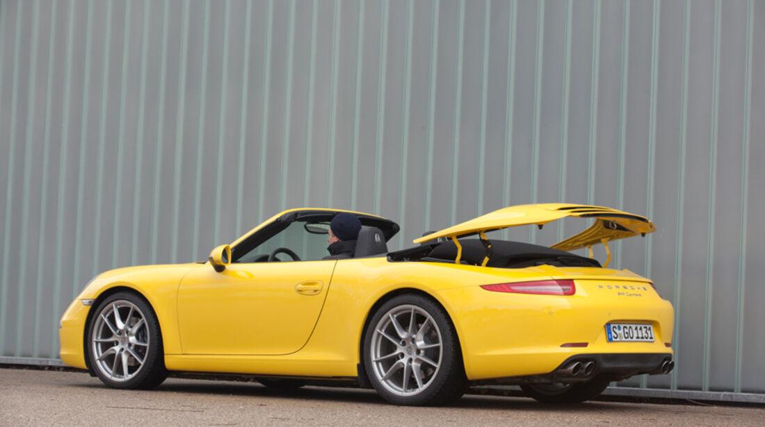 Porsche 911 Carrera Cabriolet, Dach schließen