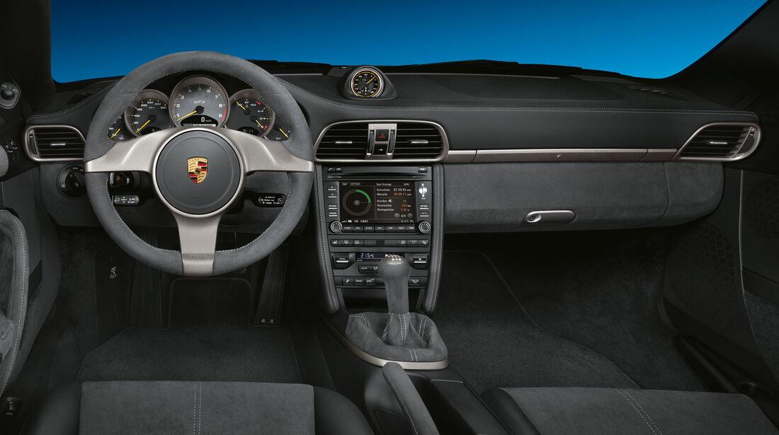 Porsche 911 GT3 (997) 2009 - Sportwagen - Lenkrad - Innenraum