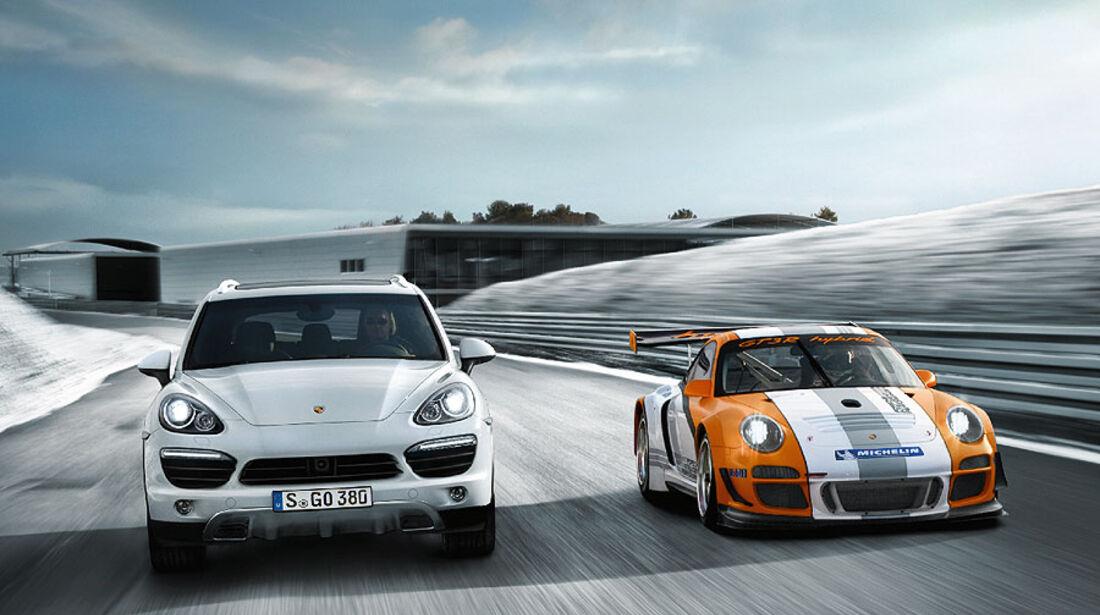 Porsche 911 GT3 R Hybrid, Cayenne Hybrid