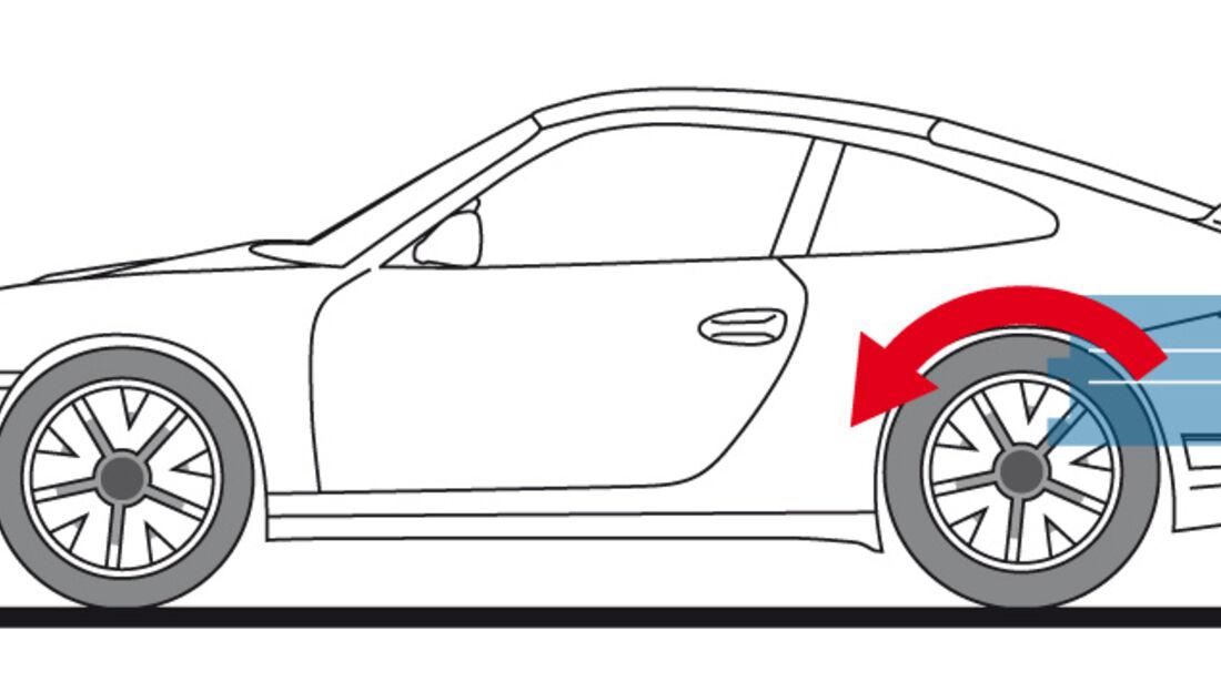 Porsche 911 GT3 RS 4.0, Zeichnung