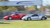 Porsche 918 Spyder, Porsche Carrera GT, Seitenansicht