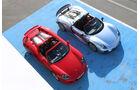 Porsche 918 Spyder, Porsche Carrera GT, von oben