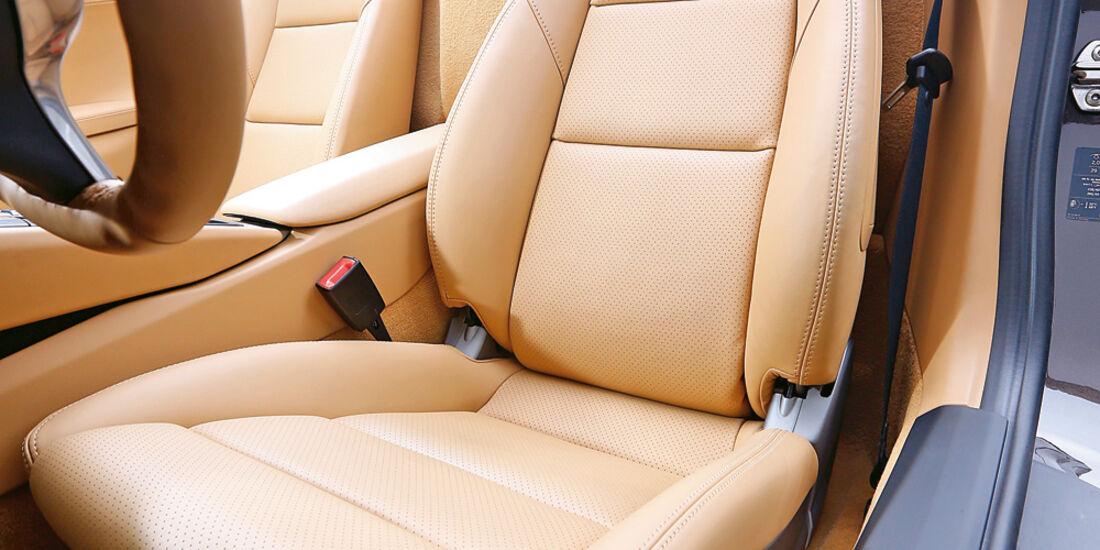 Porsche Boxster, Fahrersitz