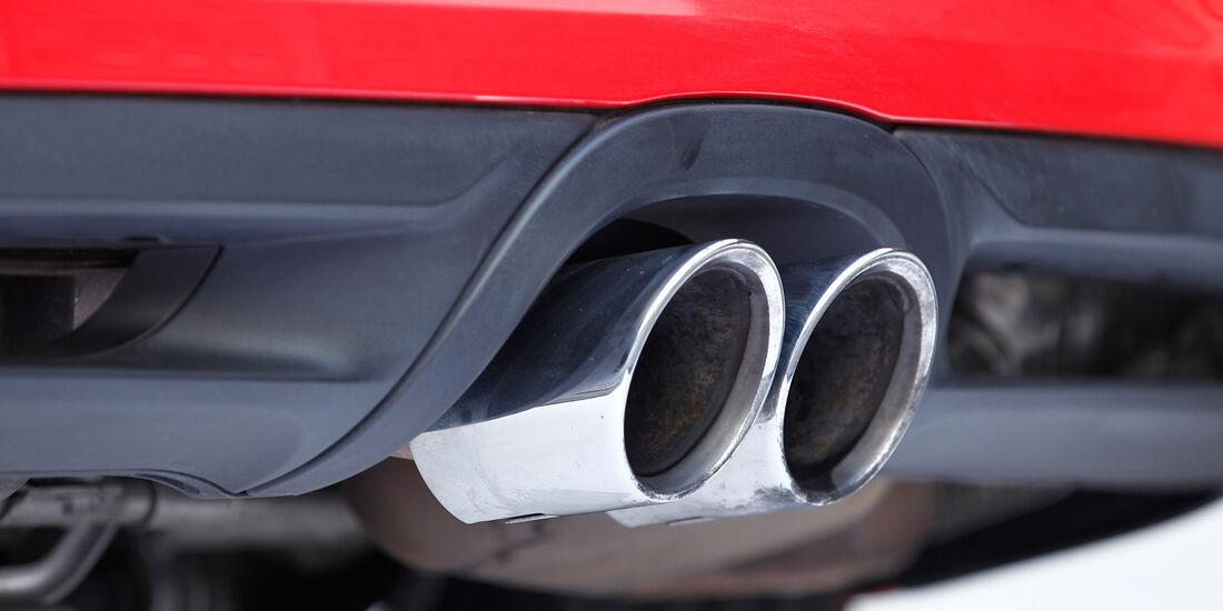 Porsche Boxster S, Auspuff, Endrohre