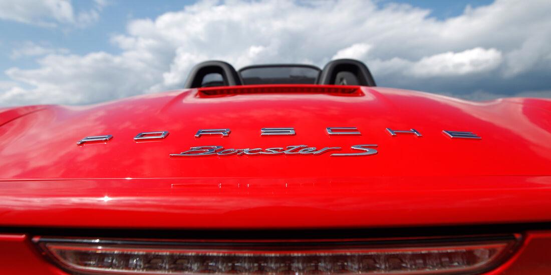 Porsche Boxster S, Heck, Schriftzug