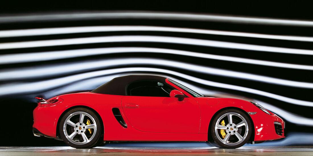 Porsche Boxster S, Strömungskanal