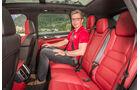 Porsche Cayenne, Rücksitz, Beinfreiheit
