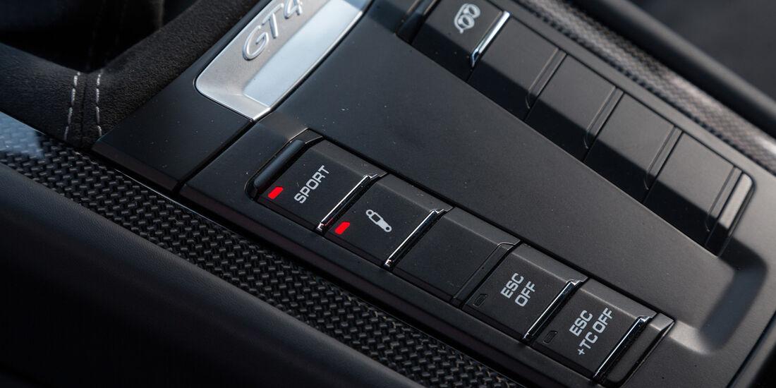 Porsche Cayman GT4, Bedienelemente