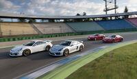Porsche Cayman GTS, Cayman GT4, 911 Carrera GTS und 911 GT3