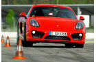 Porsche Cayman S, Frontansicht, Slalom