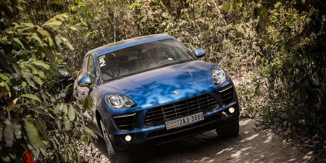 Porsche Macan Frontal von Oben