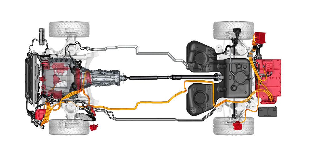 Porsche Panamera Plug-in-Hybrid, Antrieb, Technik