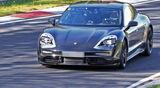 Porsche Taycan Getarnt Testfahrt Rennstrecke Aufmacher