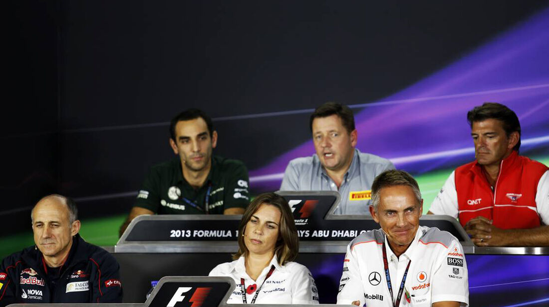 Pressekonferenz  - Formel 1 - GP Abu Dhabi - 01. November 2013