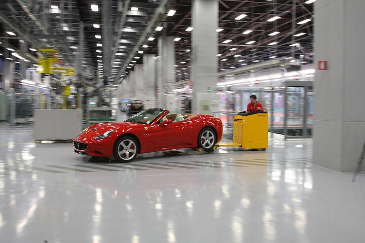 Produktion Ferrari California