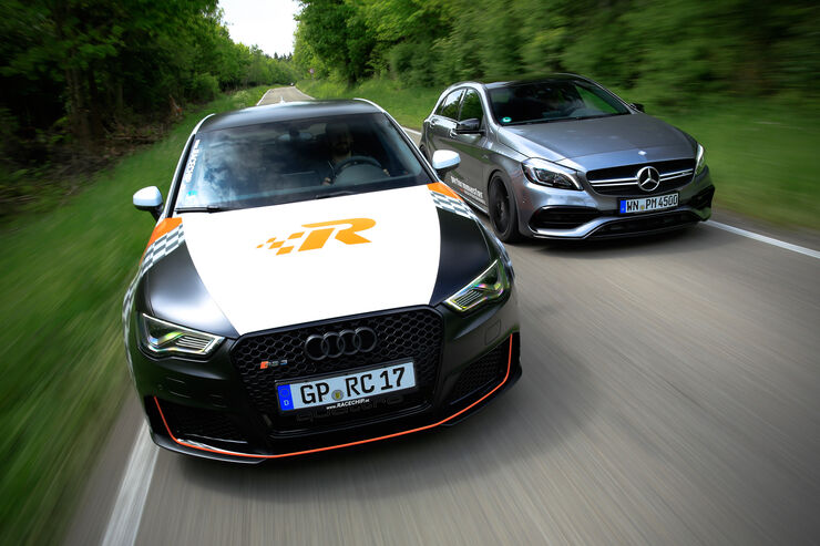 RaceChip-Audi RS3 Sportback vs. Performmaster-Mercedes-AMG A 45