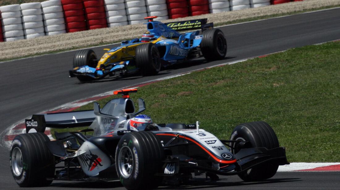 Räikkönen Alonso GP Spanien 2005