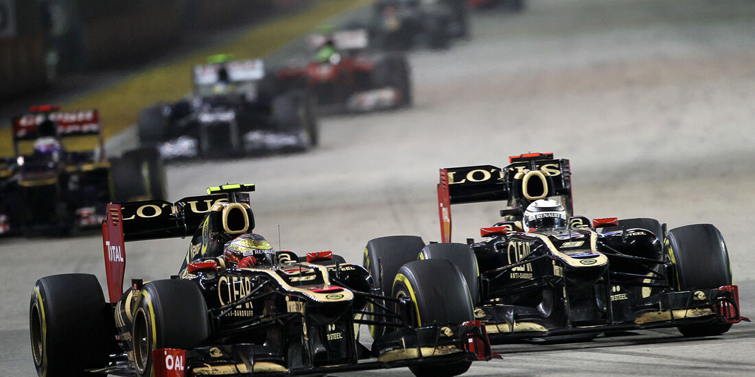 Räikkönen vs. Grosjean - GP Singapur 2012