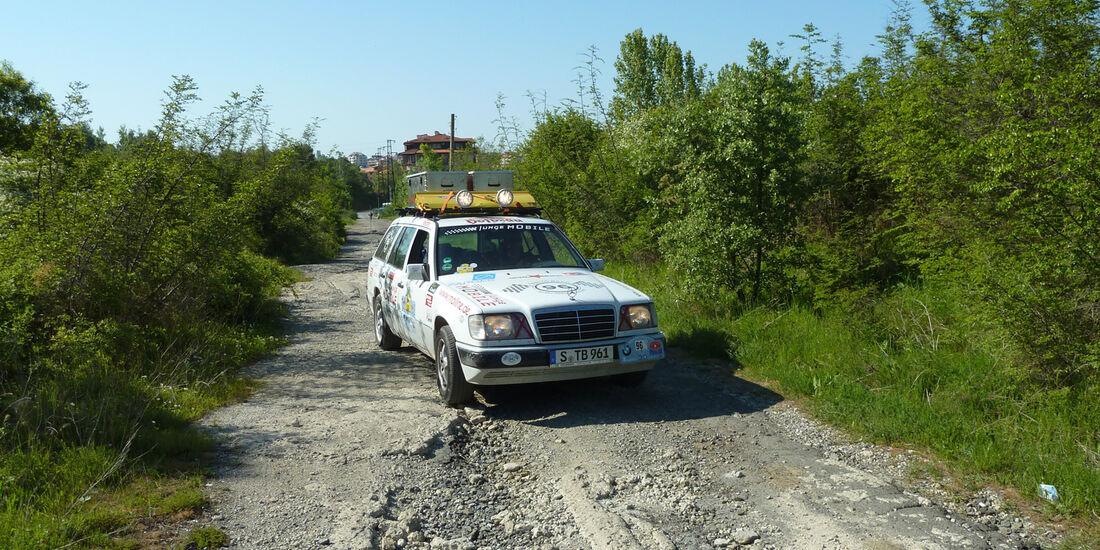 Rallye Allgäu-Orient, Mercedes 124 T-Modell, Frontansicht