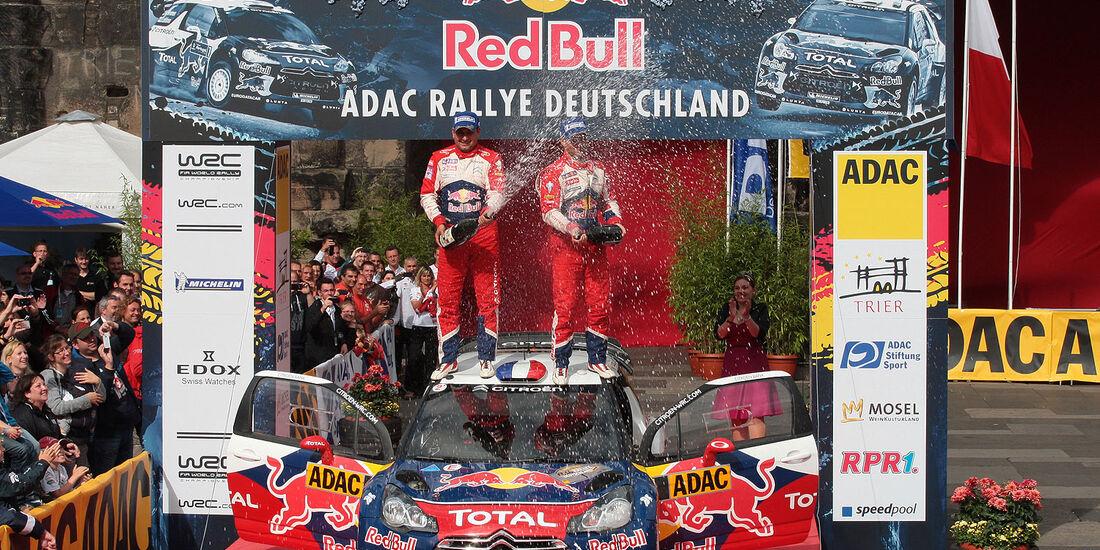 Rallye Deutschland, Loeb, Siegerpodest 2012